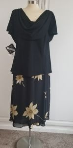 Studio 1 Black Skirt Set Size 18W